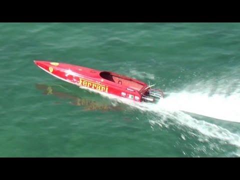 RC Offshore Boat Racing at Malta - FERRARI Boat