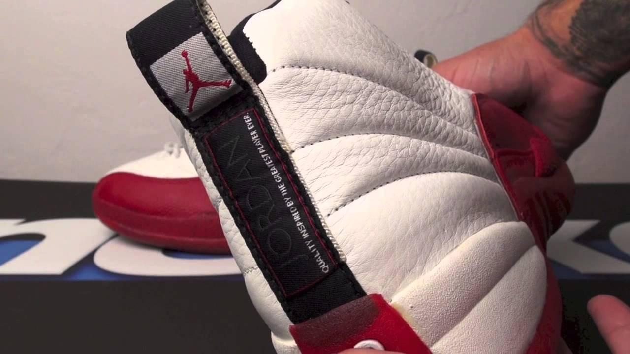 separation shoes 266ff 966b4 Vault: Air Jordan 12 Original (OG) White/Red - Cherry 1997