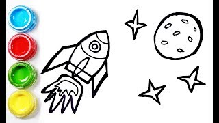 High-tech rocket coloring and drawing for Kids,Toddlers丨Bobbi Toy Art