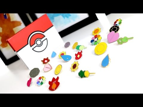 Pokemon in Real Life, Gym Badges , Kanto , 3 Different Sets