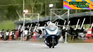CRASH!!! DRAG BIKE HONDA PCX 150cc THAILAND