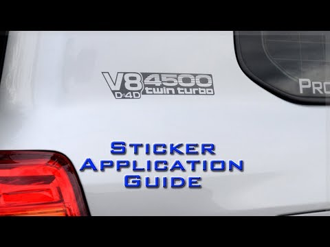 Vinyl Sticker Application Guide