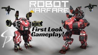 New Mech Game - Robot Warfare Online - First Look Game Play
