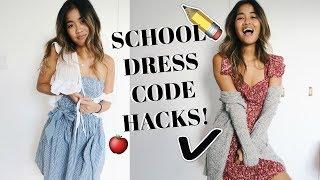SCHOOL DRESS CODE HACKS!   rachspeed