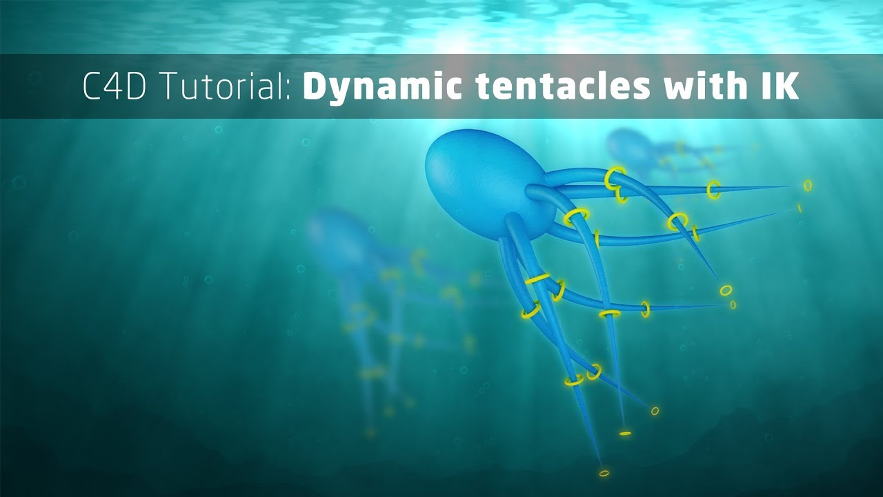 Cinema 4d tutorial: create dynamic creature tentacles with splines.
