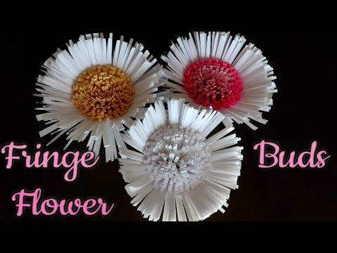 How to Make Paper Fringe Flower Buds - Quick and Easy DIY Flower Buds