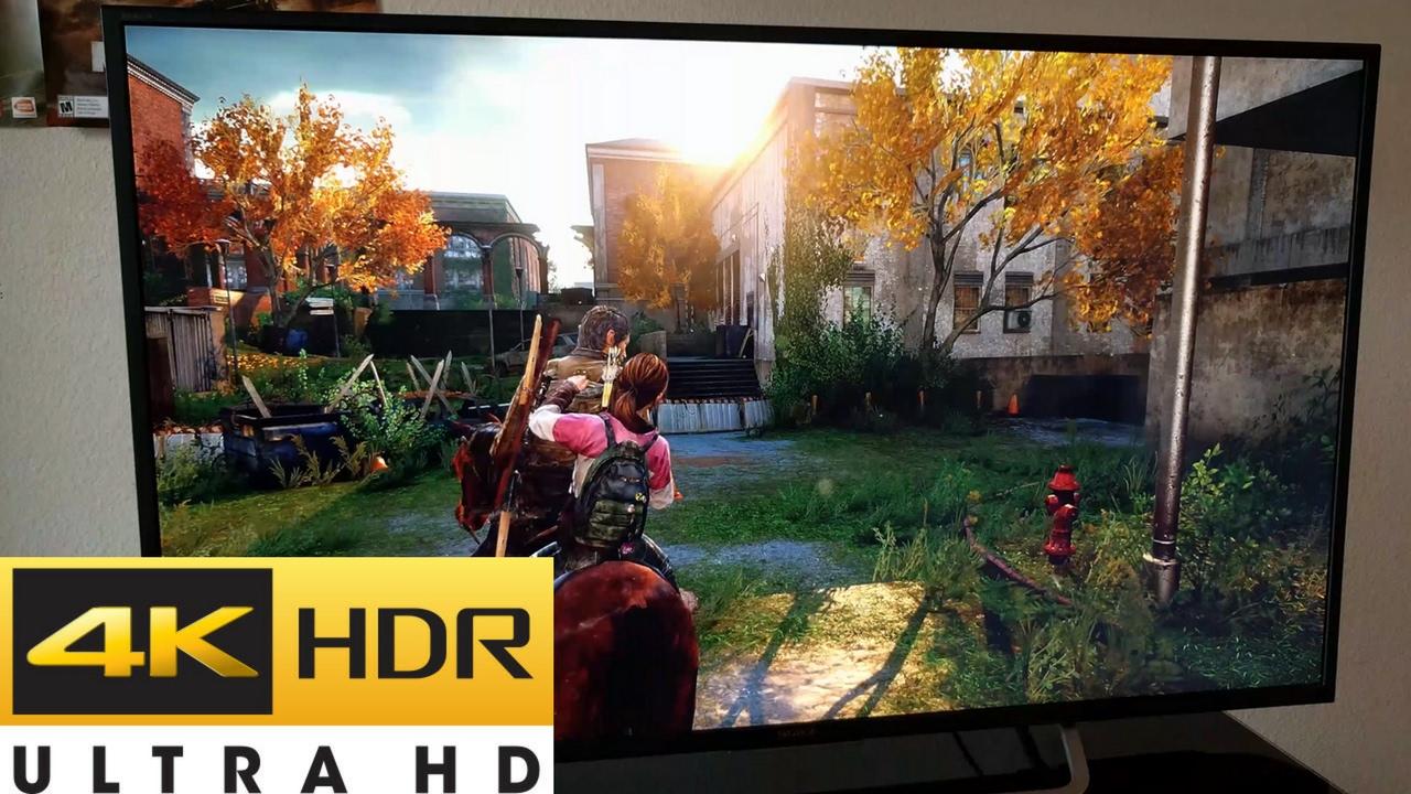 Sony 55inch 4k Tv Xbr 55x700d Ps4 Pro Gameplay 4k