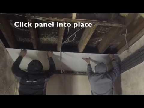 HOW TO CLAD A CEILING WITH PVC HYGIENIC CLADDING PANELS IN LESS THAN 60 SECONDS