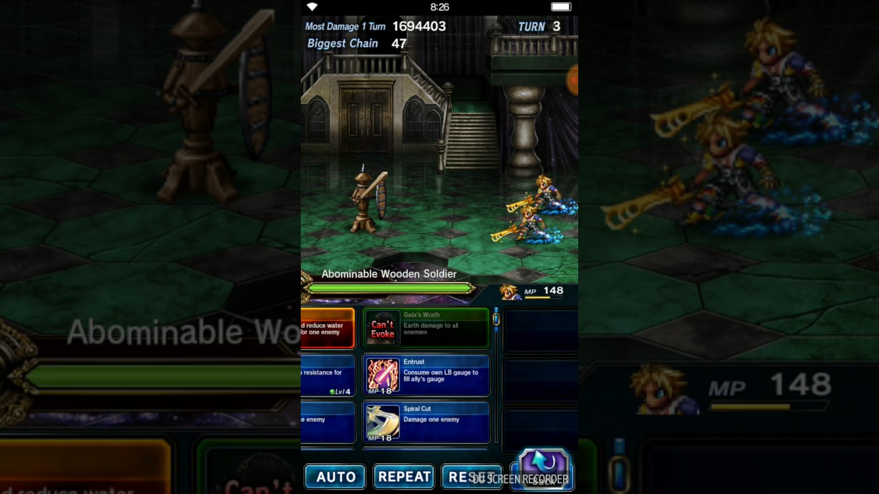 FFBE Tidus Perfect DW Chain - Android (no macro) - - vimore org