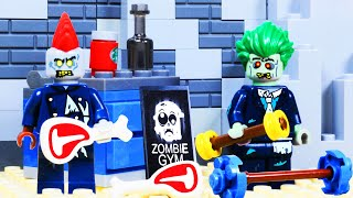 Lego Zombie Gym Bodybuilding Fail Toy Animation for kids