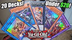 Yu-Gi-Oh! 20 Deck Ideas Under $20!