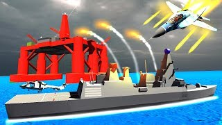 Russian Battleship Attacks the British Oil Rig to Win World War 3 in Ravenfield!