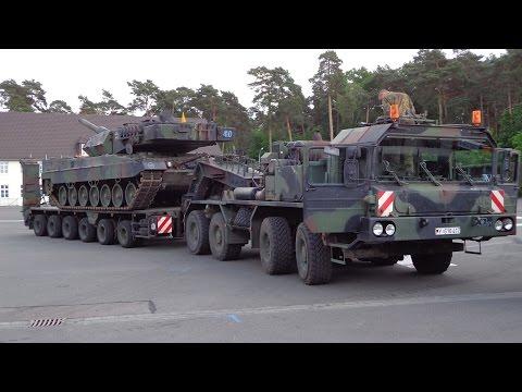 Verladung Kampfpanzer Leopard 2 auf SLT, Tag der Bundeswehr