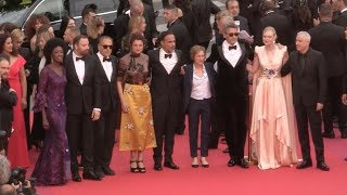 Jury members of the 2019 Cannes Film Festival on the red carpet of the Opening ceremony