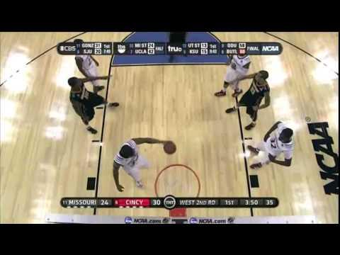 Cincinnati Vs. Missouri NCAA First Round 2011