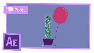 Простая анимация шарика и кактуса в After Effects | уроки для новичков