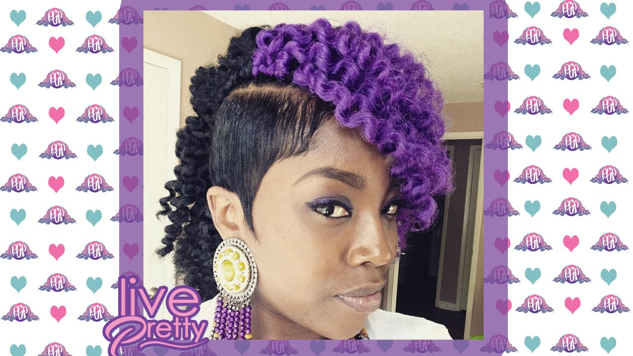 Crochet Braids Purple : Crochet Braids Molded Sides Purple Marley Hair - YouTube