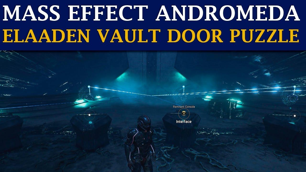 Mass Effect Andromeda Guide Planet Elaaden Vault Door Puzzle