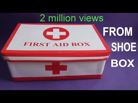MAKE EASY FIRST AID BOX FROM SHOE BOX | FIRST AID kit FOR KIDS | BEST OUT OF WASTE | CREATIVE MOM