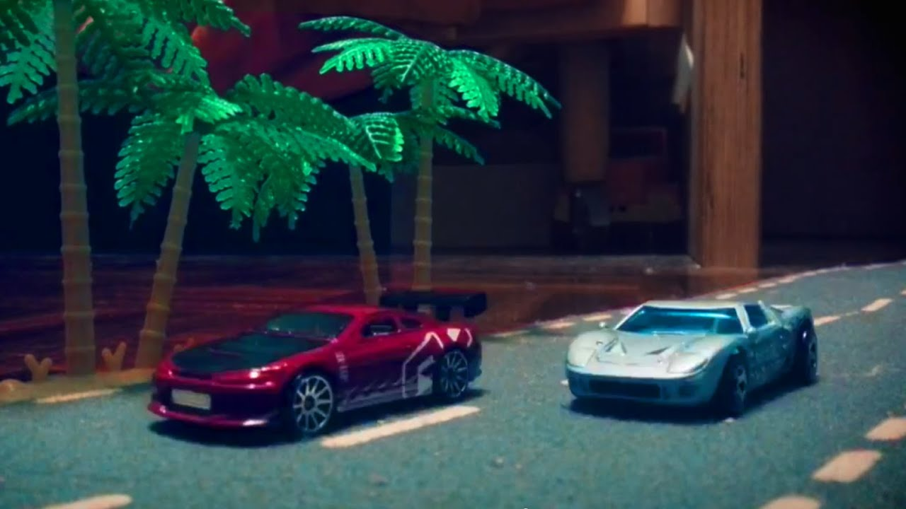 Jdm Vs Muscle Car Street Race With Hot Wheels Stop Motion Youtube