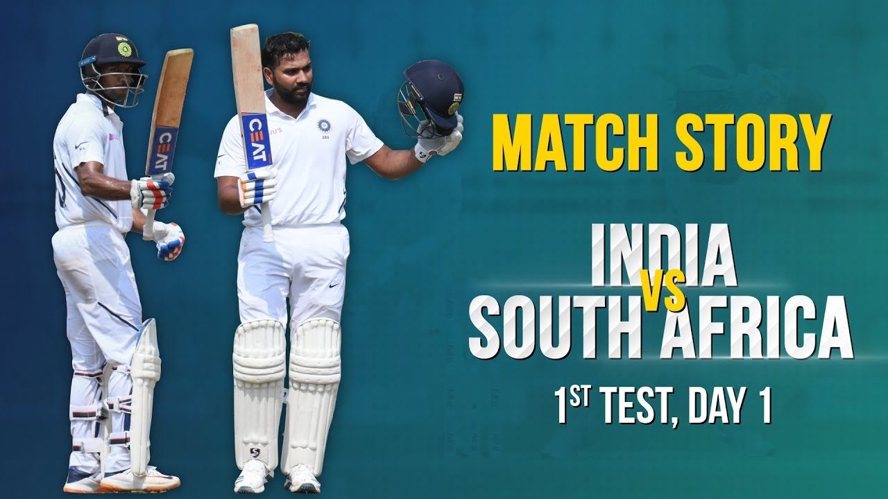 Ind V Sa 1st Test Day 1 Match Story Rohit Sharmas Ton Dominant Indian Openers