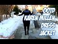 WINTER OOTD KAREN MILLEN KNIT DRESS GREY COAT | COSMETICSNOB