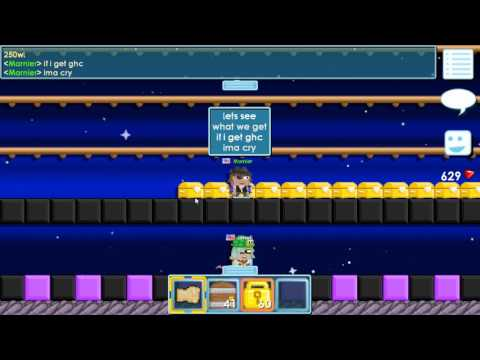 Growtopia: Buying 100wls worth of Golden Booty Chests!!