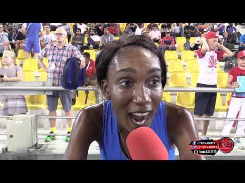 Goule explains mistake during 800m run #DohaDL2017