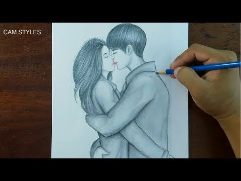 How To Draw Hugging Couple