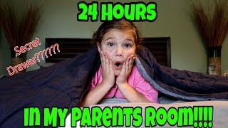 24 Hours Overnight In My Parents Room! What's In My Mom's Secret Drawer???