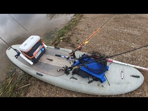 Stand Up Paddleboard Fall Bass Fishing+SUP Fishing Setup Walkthrough