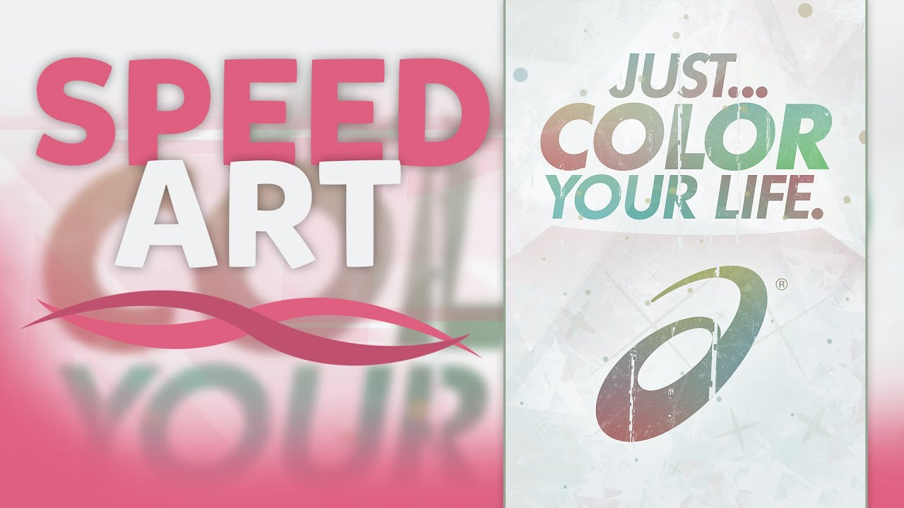 How to color your art in photoshop - Photoshop Speed Art Poster Asics Just Color Your Life