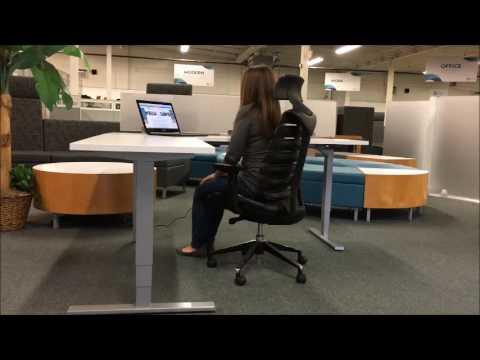 L Shaped Adjustable Standing Desk Youtube