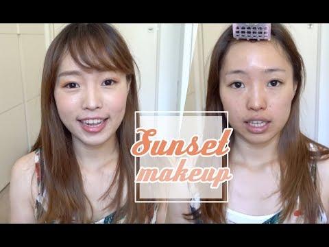 超簡單夏日夕陽妝!還有最近買的ADDICTION,水乖乖刷具+粉餅使用心得 Sunset Makeup l EVALIN
