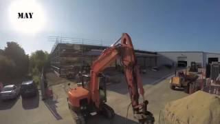 UK Factory Extension Build External Time Lapse 2016
