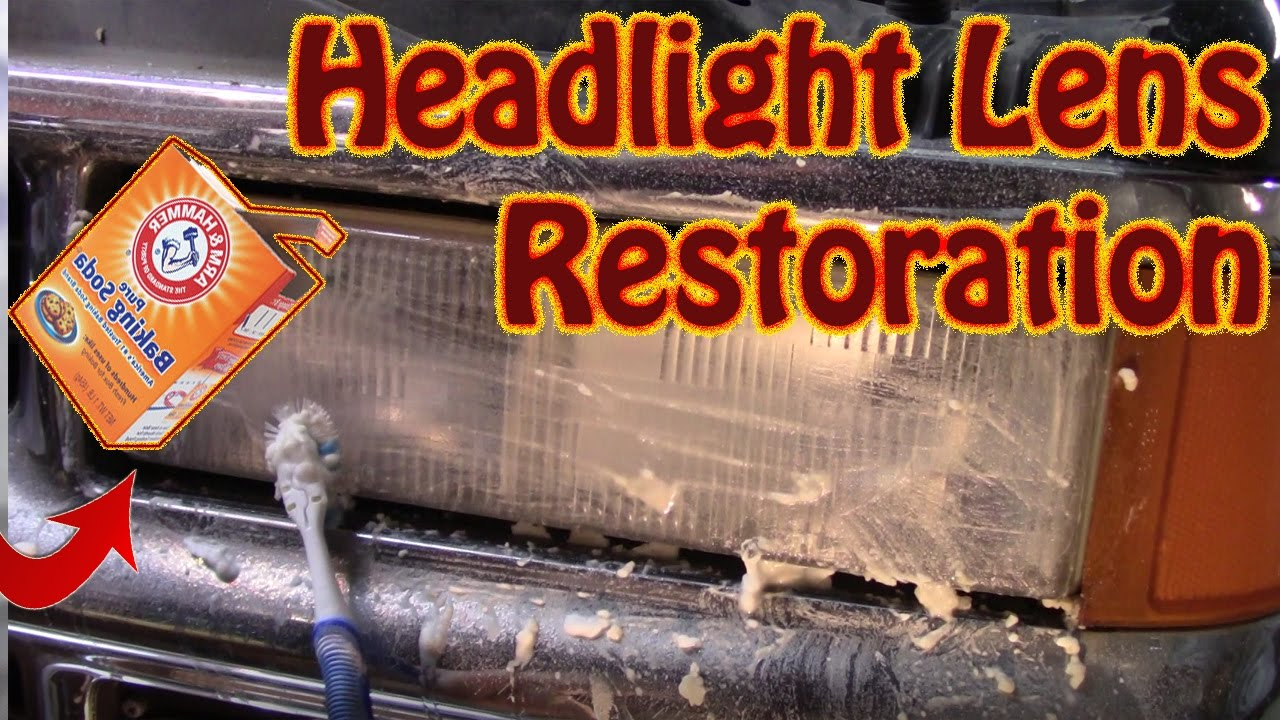 Diy Headlight Restoration Baking Soda Diydry Co