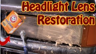DIY Headlight Lens Restoration With Baking Soda and Water - How to Clear Plastic Headlight Lenses