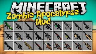 Apocalipsis Minecraft Zombie Mod / Sobrevive a la invasión / Armas para Minecraft 1.7.10 / 1.8