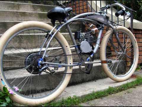Board Track Racer Replica 48cc Motored Bike Youtube
