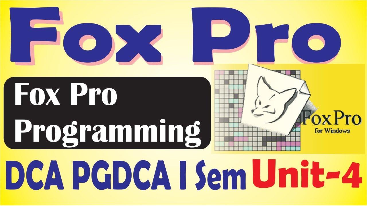 Foxpro Programming Books Pdf