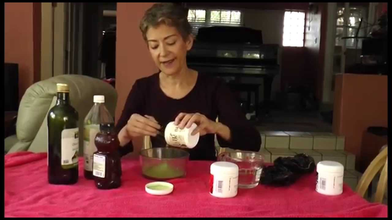 Coloring Grey Hair Using Only Natural Ingredients - YouTube