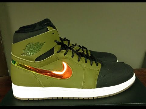 the best attitude 559d7 e780d Air Jordan 1 Retro High Nouveau   Militia Green   Unboxing