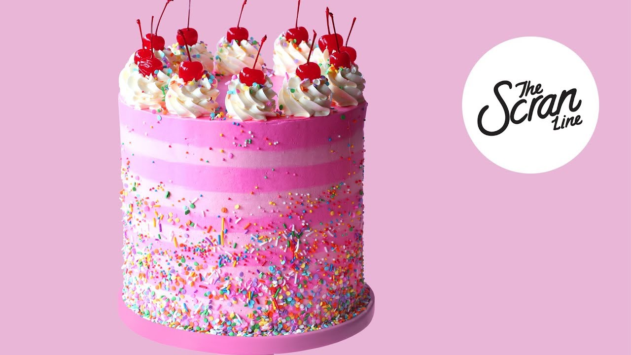 Strawberry Birthday Cake The Scran Line Youtube
