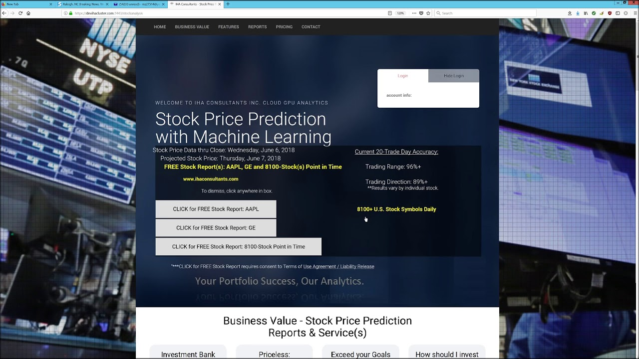 Iha Consultants Stock Price Prediction Report 8100 Us Stocks Youtube