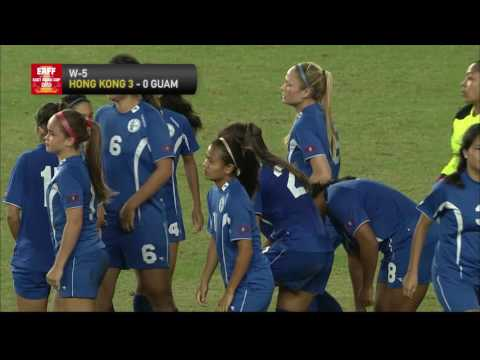 HONG KONG - GUAM Highlights (Women's) |  EAFF EAST ASIAN CUP 2015 Round 2 CHINESE TAIPEI