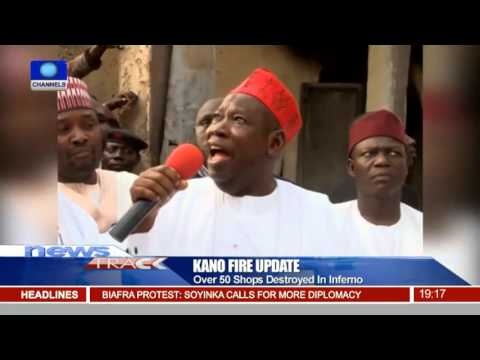Over 50 Shops Destroyed In Kano Fire,Igbo Residents Deny Link