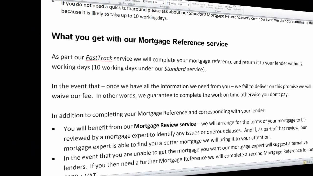 making money from mortgage reference letters youtube