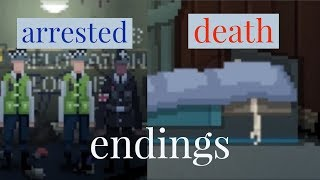 Not tonight endings - death ending, arrest ending and normal ending