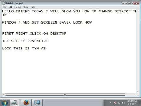 how to change desktop screensaver