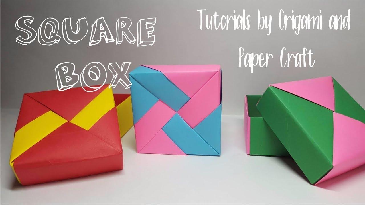 origami square box with 3 designseasy and fast